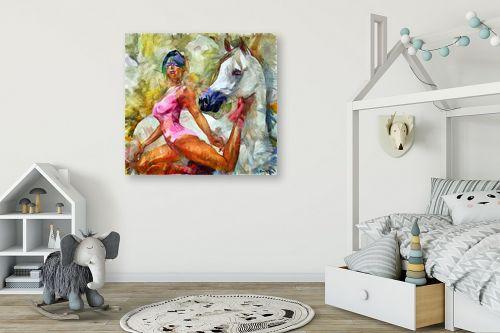 תמונה לחדר ילדים - בן רוטמן - החיה והאישה - מק''ט: 243409