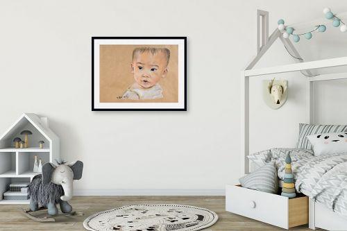 תמונה לחדר ילדים - נריה ספיר - מבט תמים - מק''ט: 259697