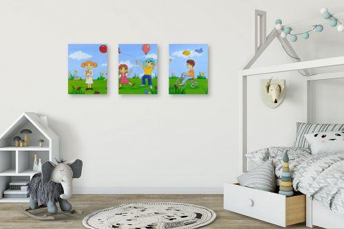 תמונה לחדר ילדים - נריה ספיר - בלונים ושמחה - מק''ט: 259702