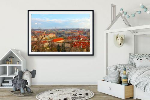 תמונה לחדר ילדים - מתן הירש - גגות אדומים בפראג - מק''ט: 283093
