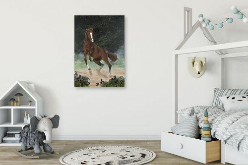 תמונה לחדר ילדים - נריה ספיר - סוס אנרגטי - מק''ט: 284493