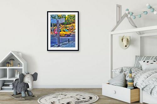 תמונה לחדר ילדים - מתן הירש - רוטשילד שנקין - מק''ט: 285255