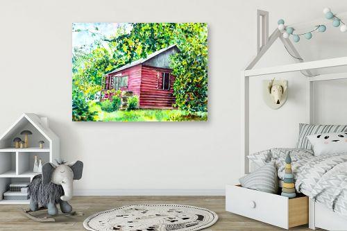 תמונה לחדר ילדים - חיה וייט - בית בטבע - מק''ט: 285498