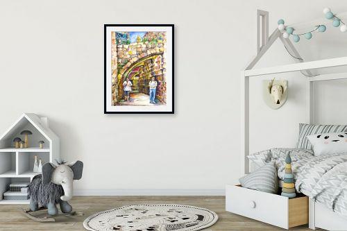 תמונה לחדר ילדים - חיה וייט - רחוב עם קשתות - מק''ט: 285499