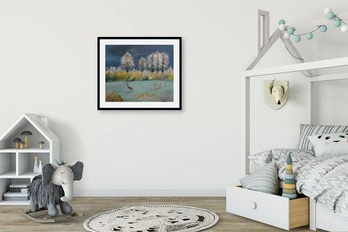 תמונה לחדר ילדים - רינה יניב - חורף באגם - מק''ט: 285642