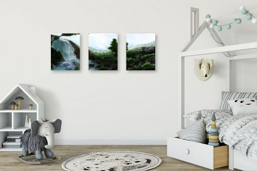 תמונה לחדר ילדים - אורי רדלר - פינת גן עדן - מק''ט: 290021