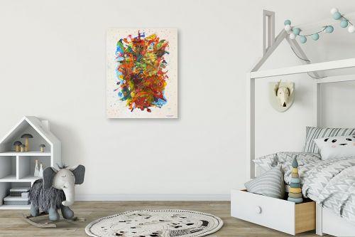 תמונה לחדר ילדים - חיים מחט - זר פרחים - מק''ט: 291801