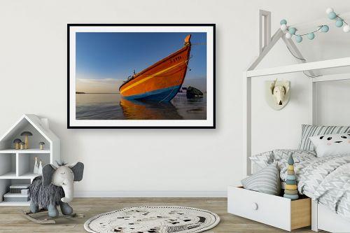 תמונה לחדר ילדים - שי וייס - סירת דייג  - מק''ט: 294541