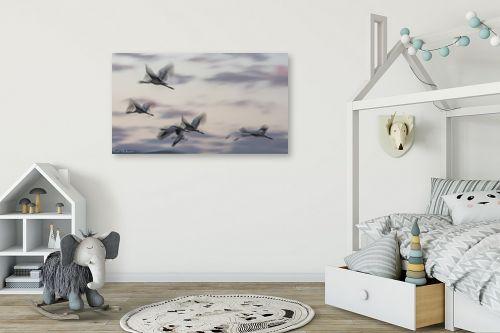 תמונה לחדר ילדים - דורית ברקוביץ - מעוף העגורים - מק''ט: 298659