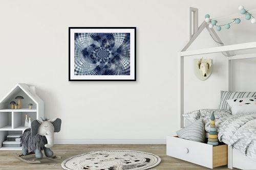 תמונה לחדר ילדים - רעיה גרינברג - מנדלה בכחול - מק''ט: 312167