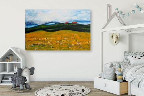 תמונה לחדר ילדים - ורד אופיר - בתים על ההר - מק''ט: 312370