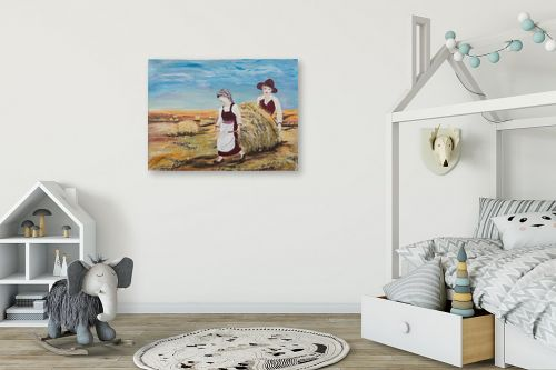 תמונה לחדר ילדים - דיאנה אורן - עבודה בשדה - מק''ט: 315910