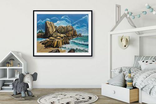 תמונה לחדר ילדים - דיאנה אורן - סלעים  בים - מק''ט: 316286