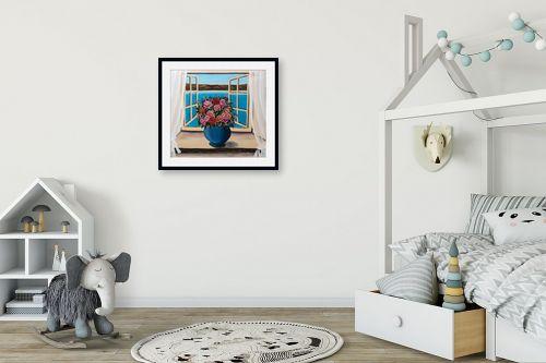 תמונה לחדר ילדים - מזל בוכריס - ורדים מול הכנרת - מק''ט: 316390