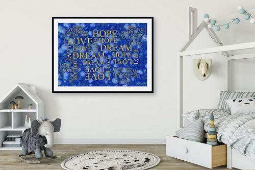 תמונה לחדר ילדים - ויקטוריה רייגירה - LOVE HOPE DREAM - מק''ט: 316717