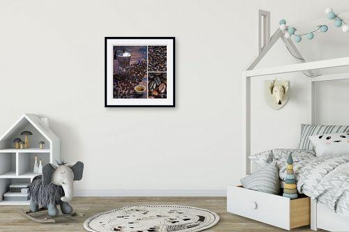 תמונה לחדר ילדים - קובי פרידמן - קפה - מק''ט: 320023
