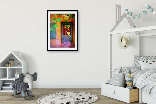 תמונה לחדר ילדים - אורית גפני - על מפתן הדלת - מק''ט: 324573