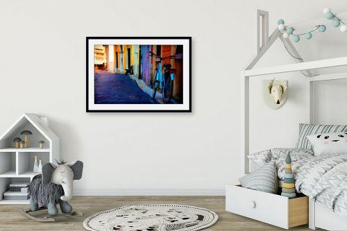 תמונה לחדר ילדים - אורית גפני - סמטה ציורית - מק''ט: 325110