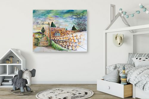 תמונה לחדר ילדים - חיה וייט - מדרגות עין כרם  - מק''ט: 326513