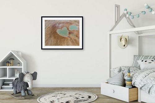 תמונה לחדר ילדים - גל מאירי - בולען לב - מק''ט: 326952