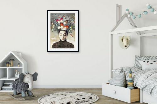 תמונה לחדר ילדים - בתיה שגיא - פרפרים בראש - מק''ט: 328887