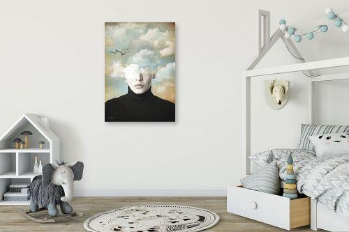 תמונה לחדר ילדים - בתיה שגיא - ראש בעננים - מק''ט: 328888