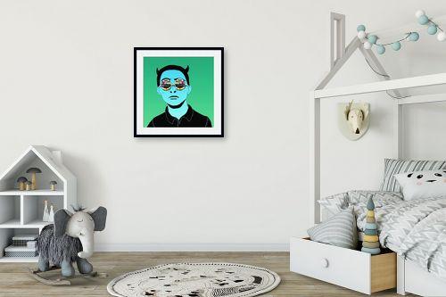 תמונה לחדר ילדים - Artpicked - tv boy - מק''ט: 329734