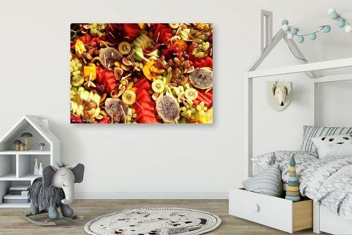 תמונה לחדר ילדים - מתן הירש - פירות צבעוניים - מק''ט: 330365
