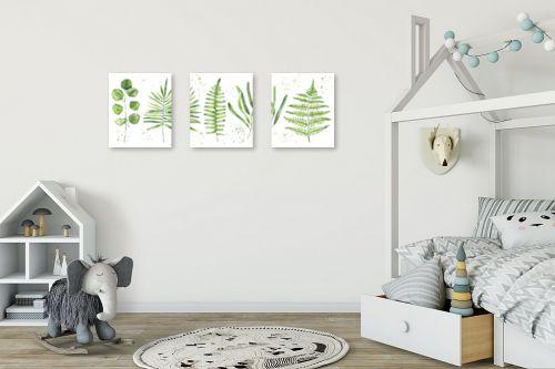 תמונה לחדר ילדים - Artpicked - אוסף בוטני אופקי - מק''ט: 331026
