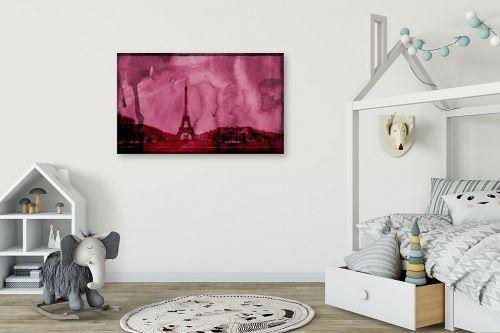 תמונה לחדר ילדים - Artpicked - פריז בורוד - מק''ט: 332537