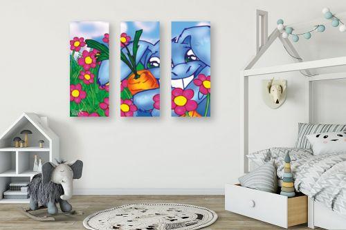 תמונה לחדר ילדים - חנן אביסף - ארנב מחבק גזר - מק''ט: 53172