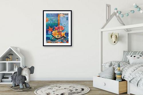 תמונה לחדר ילדים - נעמי פוקס משעול - דגים במעמקים - מק''ט: 53335