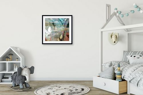 תמונה לחדר ילדים - נעמי פוקס משעול - יונים מעל העיר - מק''ט: 57342