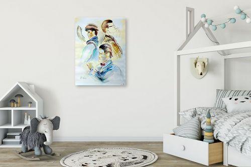 תמונה לחדר ילדים - דוד סלע - זמן - מק''ט: 96853