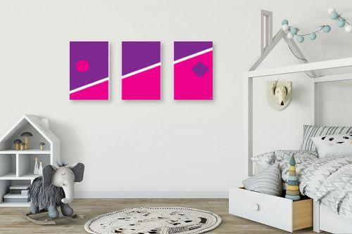 תמונה לחדר ילדים - אתי דגוביץ' - דגם גאומטרי 4 - מק''ט: 99068