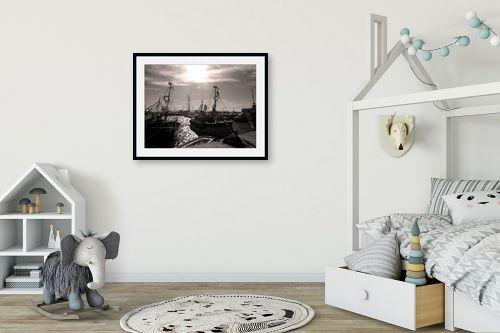תמונה לחדר ילדים - ארי בלטינשטר - מעגן דייגים - מק''ט: 99773