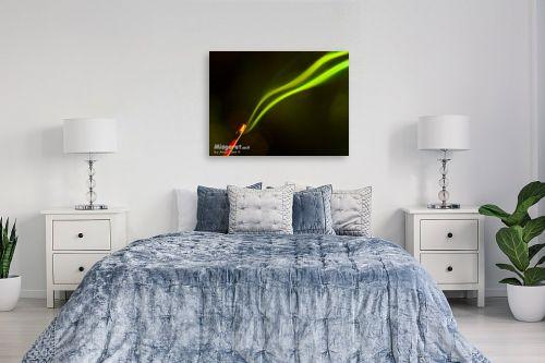 תמונה לחדר שינה - אמיר אלון - פסים ירוקים - מק''ט: 1139
