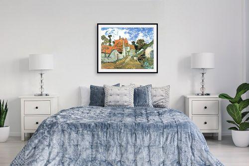 תמונה לחדר שינה - וינסנט ואן גוך - Village street in auvers - מק''ט: 115549