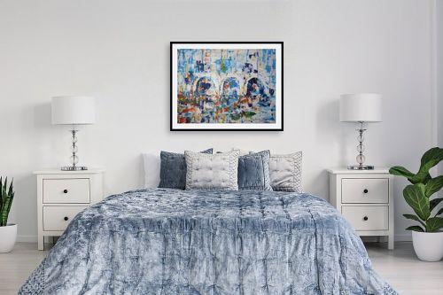תמונה לחדר שינה - מרים קופפרשטיך - נוף עם קשתות - מק''ט: 139091