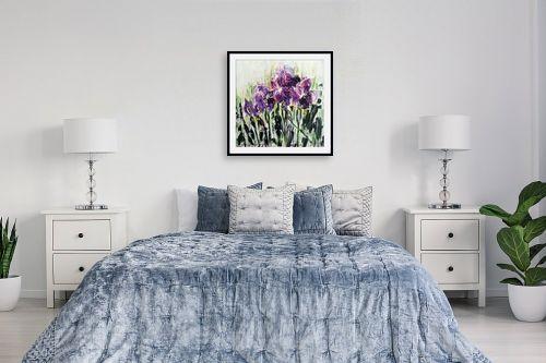 תמונה לחדר שינה - מרים קופפרשטיך - שדה של אירוסים 3 - מק''ט: 140828