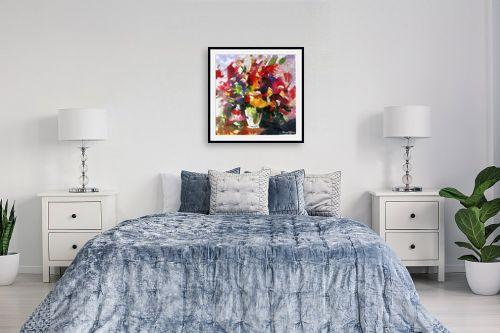 תמונה לחדר שינה - בן רוטמן - ציורי פרחים - והרבה - מק''ט: 144910