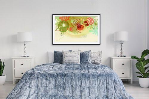 תמונה לחדר שינה - נעמי עיצובים - פרחים שמחים - מק''ט: 158930