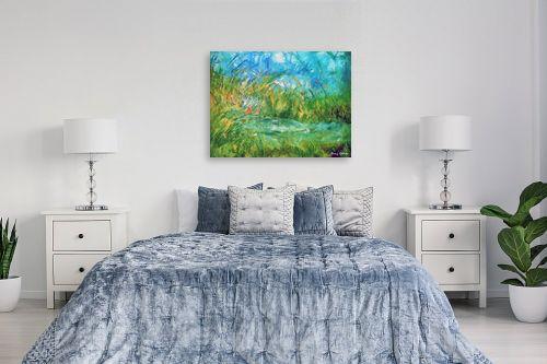 תמונה לחדר שינה - בן רוטמן - ירוק ועוד ירוק,,, - מק''ט: 170895