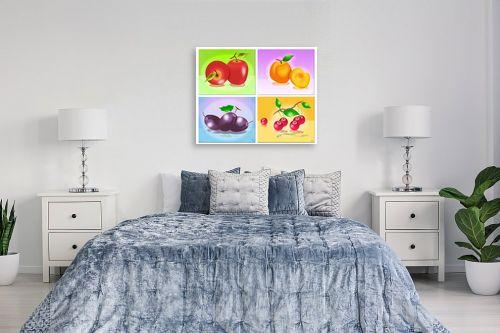 תמונה לחדר שינה - ויקטוריה רייגירה - פירות העונה - מק''ט: 208141