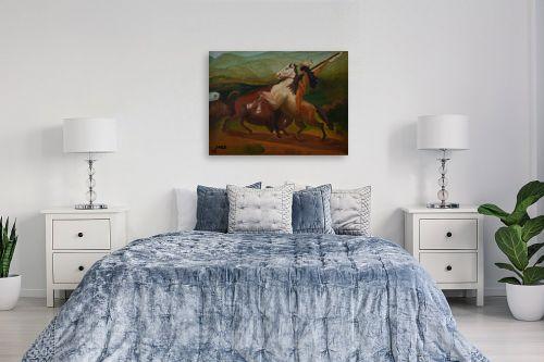תמונה לחדר שינה - שרה וולקוב - אינדיאני על סוס - מק''ט: 236540