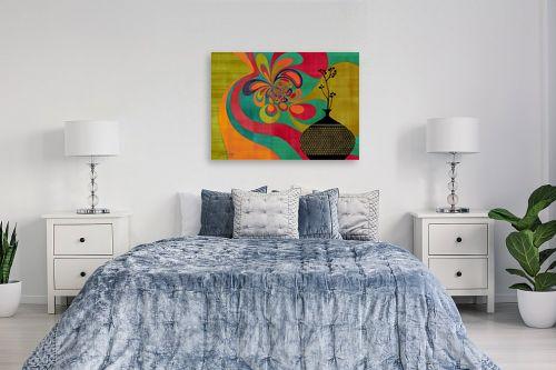 תמונה לחדר שינה - בתיה שגיא - RETRO ART - מק''ט: 239444