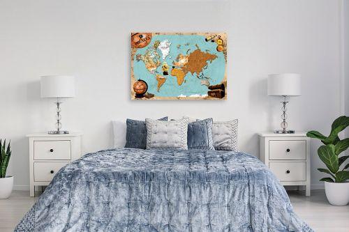 תמונה לחדר שינה - מפות העולם - Pirates map - מק''ט: 240814