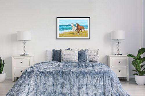 תמונה לחדר שינה - נריה ספיר - דהרה על החוף - מק''ט: 259591