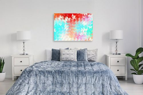 תמונה לחדר שינה - ויקטוריה רייגירה - פרפרים בשמיים - מק''ט: 260455