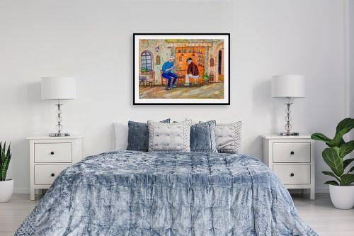 תמונה לחדר שינה - רוחלה פליישר - שיחה בין גברים - מק''ט: 266252